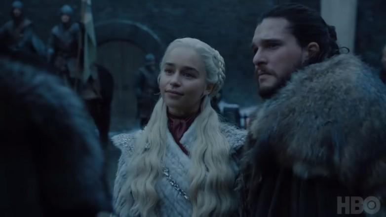 Daenerys e Jon Snow se encontram com Sansa Stark (Foto: Divulgação)