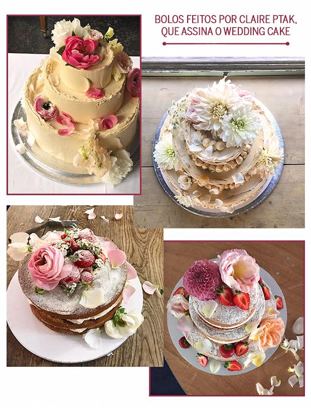 Bolos feitos por Claire Ptak, que assina o wedding cake (Foto: Reprodução/ Instagram)