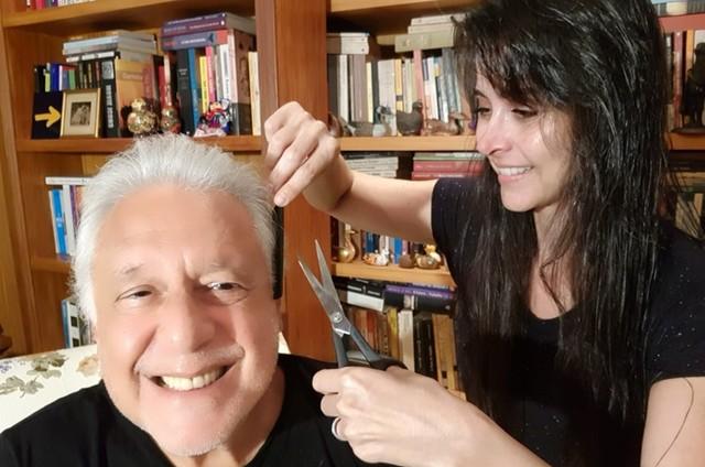 Antonio Fagundes e Alexandra Martins (Foto: Arquivo pessoal)