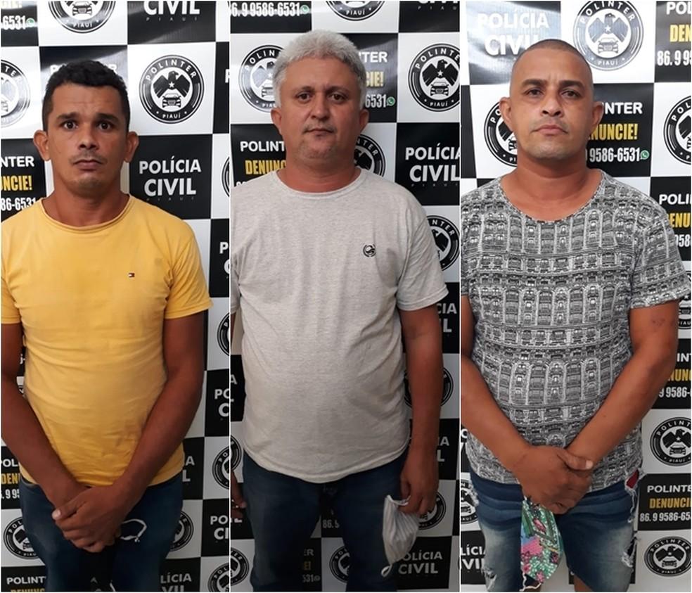 Suspeitos presos por roubo de veículos em Teresina — Foto: Divulgação/Polícia Civil