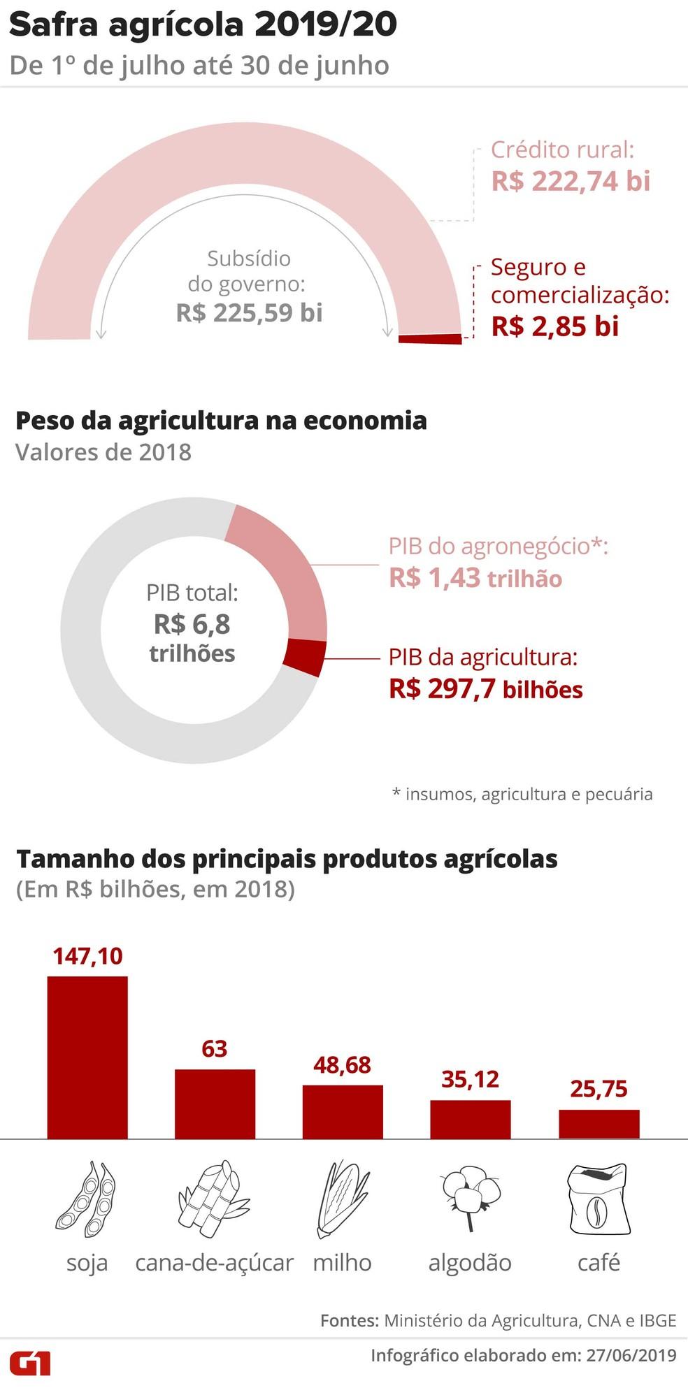Agronegócio é uma das alavancas do Produto Interno Bruto (PIB) do Brasil — Foto: Rodrigo Sanches/G1