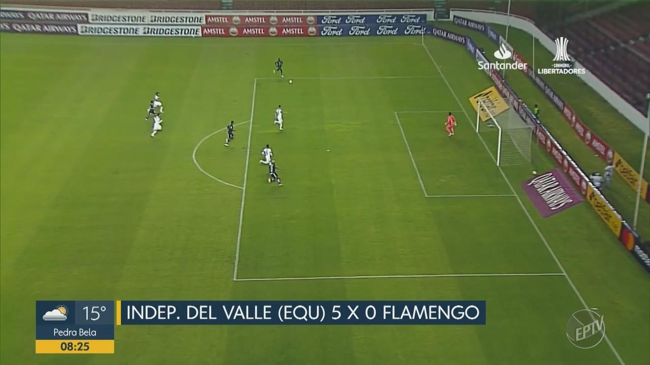 Flamengo leva 5 no Equador e São Paulo só empata no Morumbi