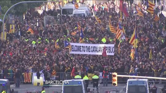 11 separatistas são presos em protesto na Catalunha
