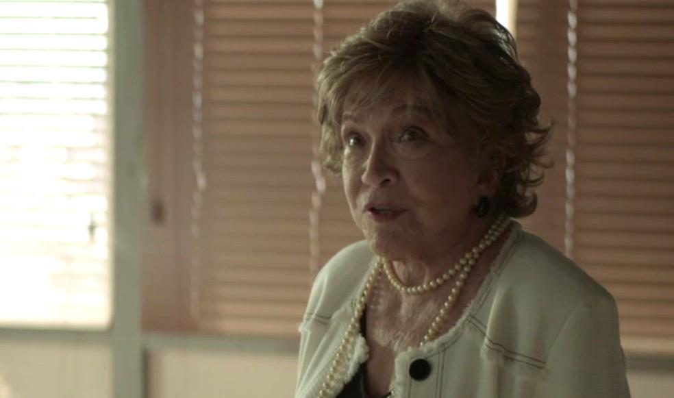 Gladys avisa que Maria da Paz está grávida — Foto: TV Globo