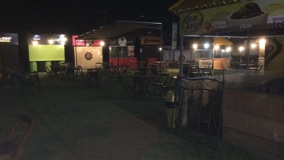 Praça de alimentação é alvo de criminosos na Zona Sul de Natal (Foto: Heloisa Guimarães/Inter TV Cabugi)