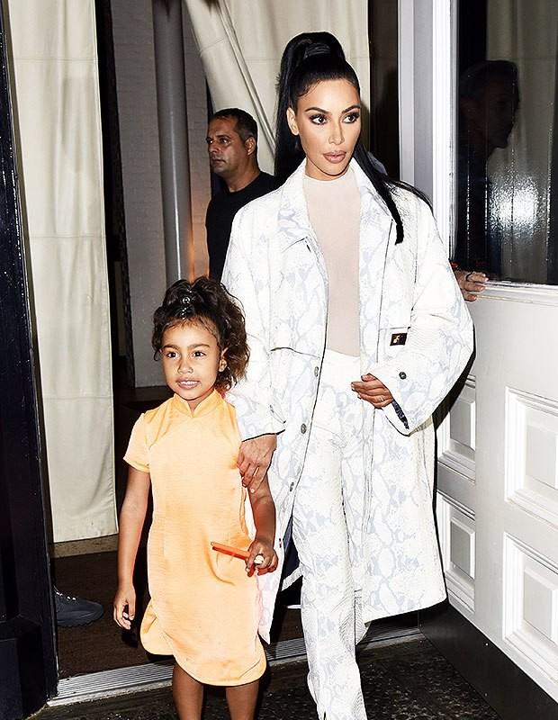 Kim Kardashian e North West (Foto: Instagram/Reprodução)