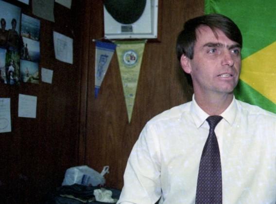 O então deputado federal Jair Bolsonaro, em imagem de julho de 1995