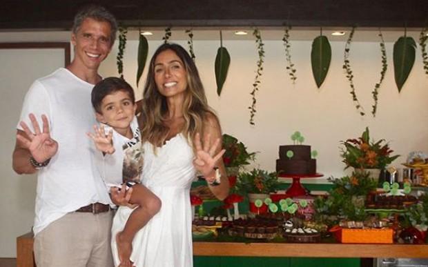 Aniversário do filho de Márcio Garcia e Andrea Santa Rosa  (Foto: Reprodução/Instagram)