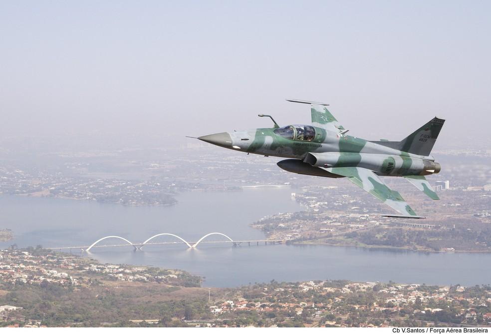 Aeronave F5-EM, da FAB — Foto: FAB/Divulgação