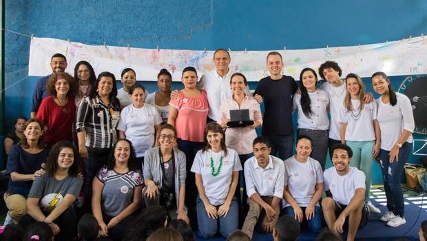 ONG Pró-Saber atua com desenvolvimento de crianças e adolescentes de Paraisópolis (SP) (Foto: Diogo Moreira/Divulgação)