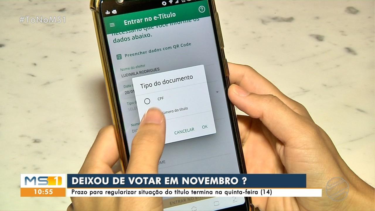 Quem não votou em novembro tem até dia 14 para regularizar situação do título