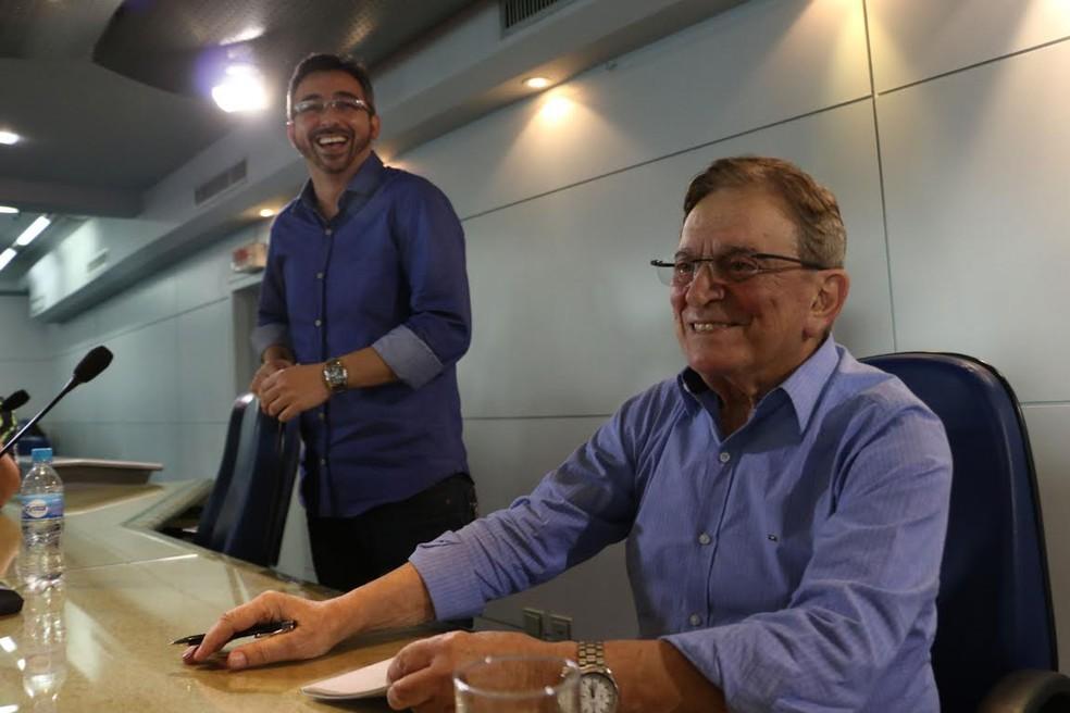 Em 2014, Fábio Koff anunciou a compra da gestão da Arena — Foto: Diego Guichard/GloboEsporte.com