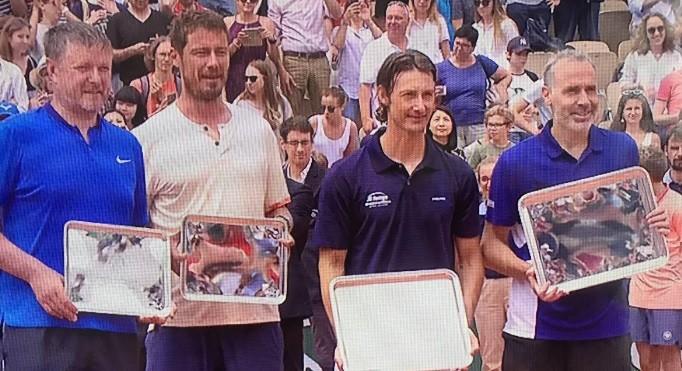 Da esquerda para a direita: Kafelnikov, Safin, Ferrero e Corretja