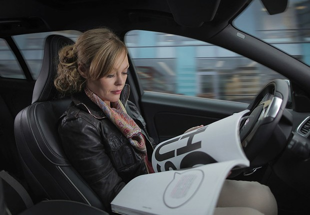 Modelo de carro autônomo da Volvo, em teste nas ruas da Suécia (Foto: Divulgação)