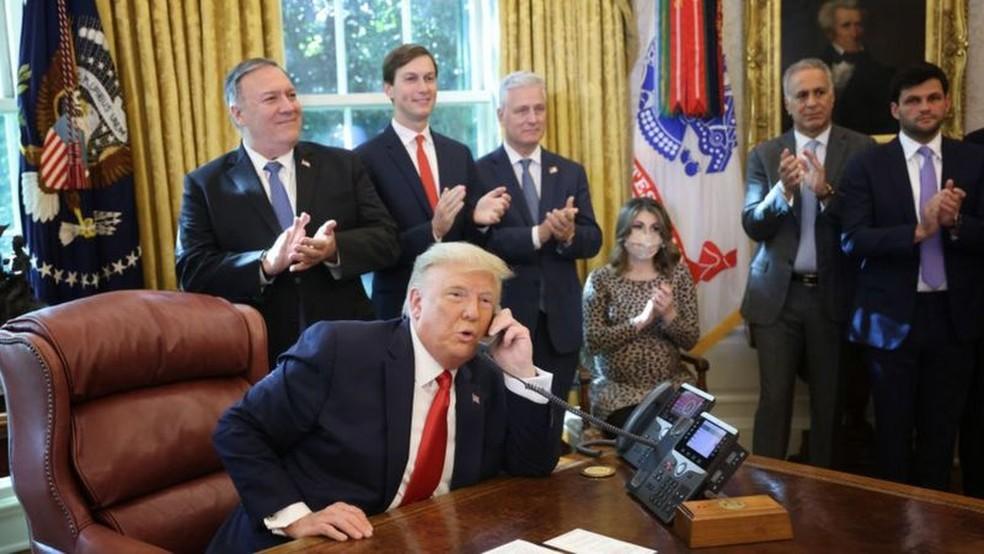 E se Trump se recusar a deixar a Casa Branca? — Foto: Getty Images/BBC