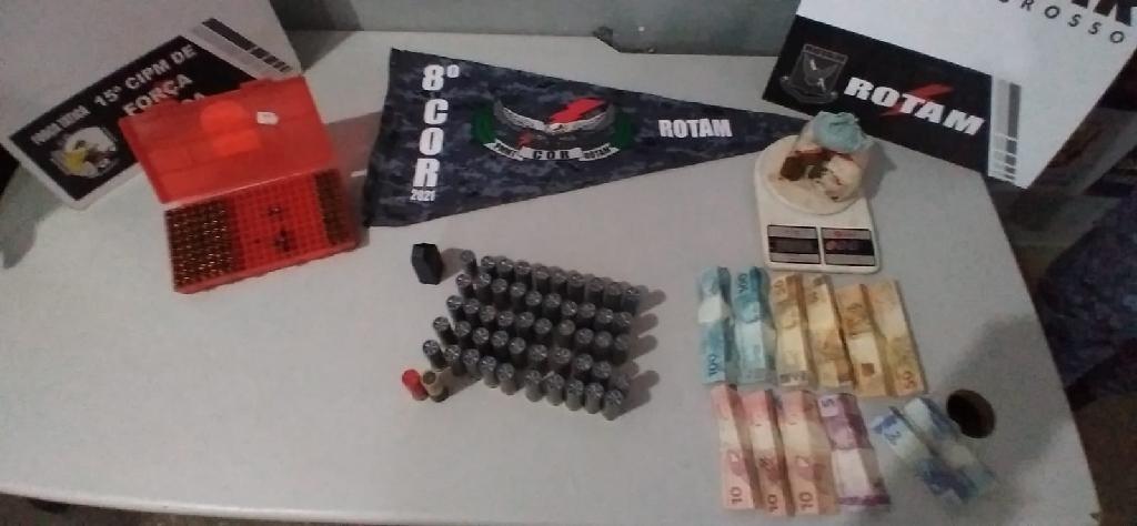 Homem é preso suspeito de receber munições de armas de fogo como pagamento de aluguel de casa em MT
