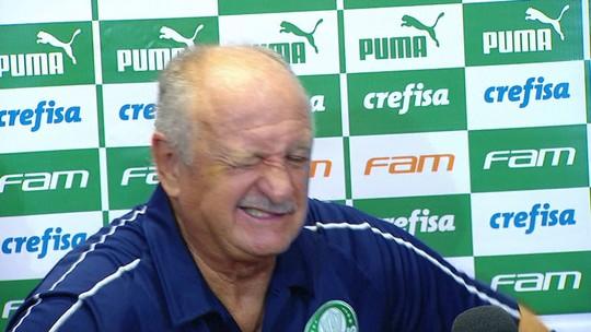 Com forte cólica, Felipão pede desculpas e interrompe entrevista coletiva após jogo do Palmeiras