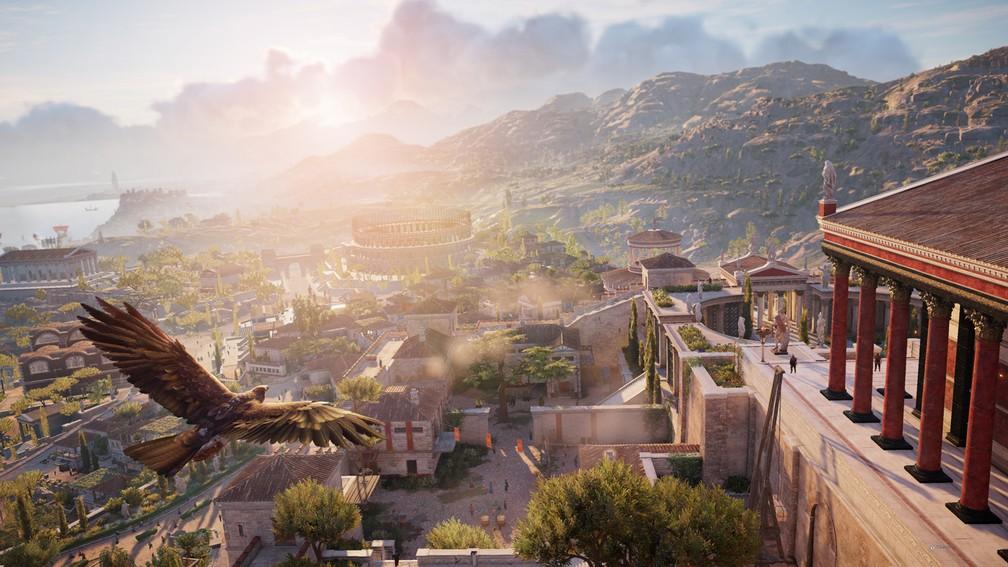 'Assassin's Creed Origins' tem mapa gigantesco e cheio de atrações do Antigo Egito — Foto: Divulgação