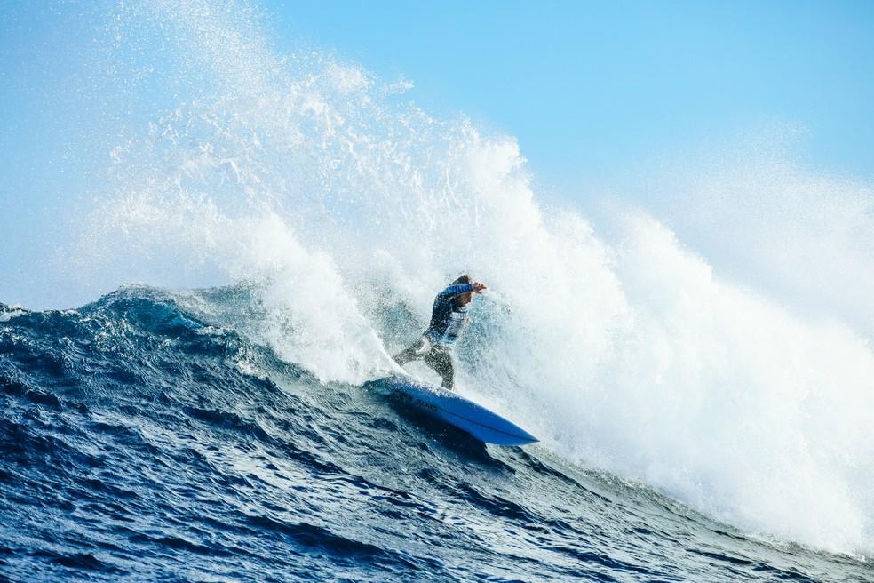 Caio Ibelli vai ao round 3 em Margaret River — Foto: Cestari / WSL