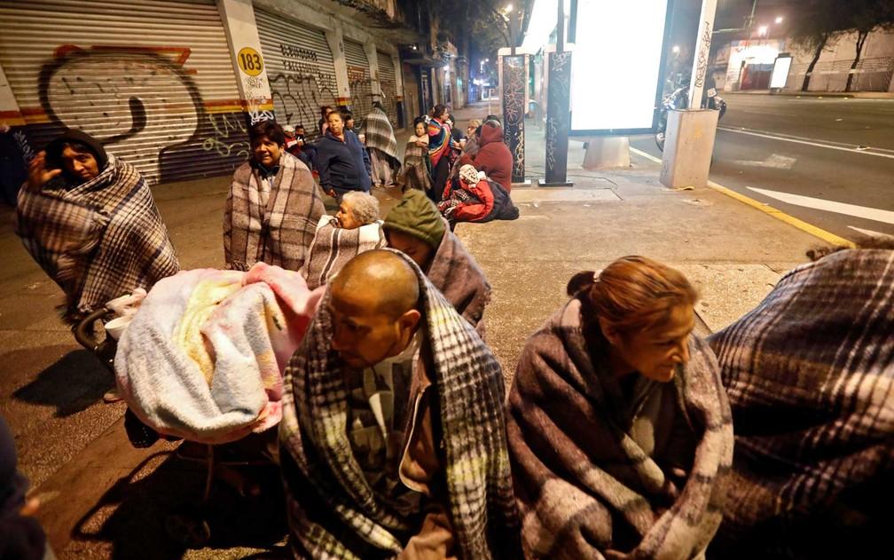 Pessoas nas ruas da Cidade do México (Foto: Edgard Garrido / Reuters    )