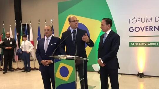 Witzel afirma que pretende prorrogar recuperação fiscal do RJ até 2023
