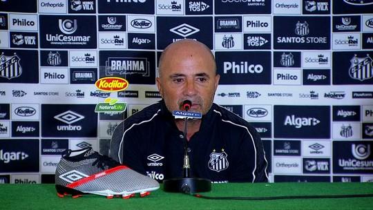 Sampaoli se anima com valentia do Santos, elogia Éverson, mas banca Vanderlei contra o River