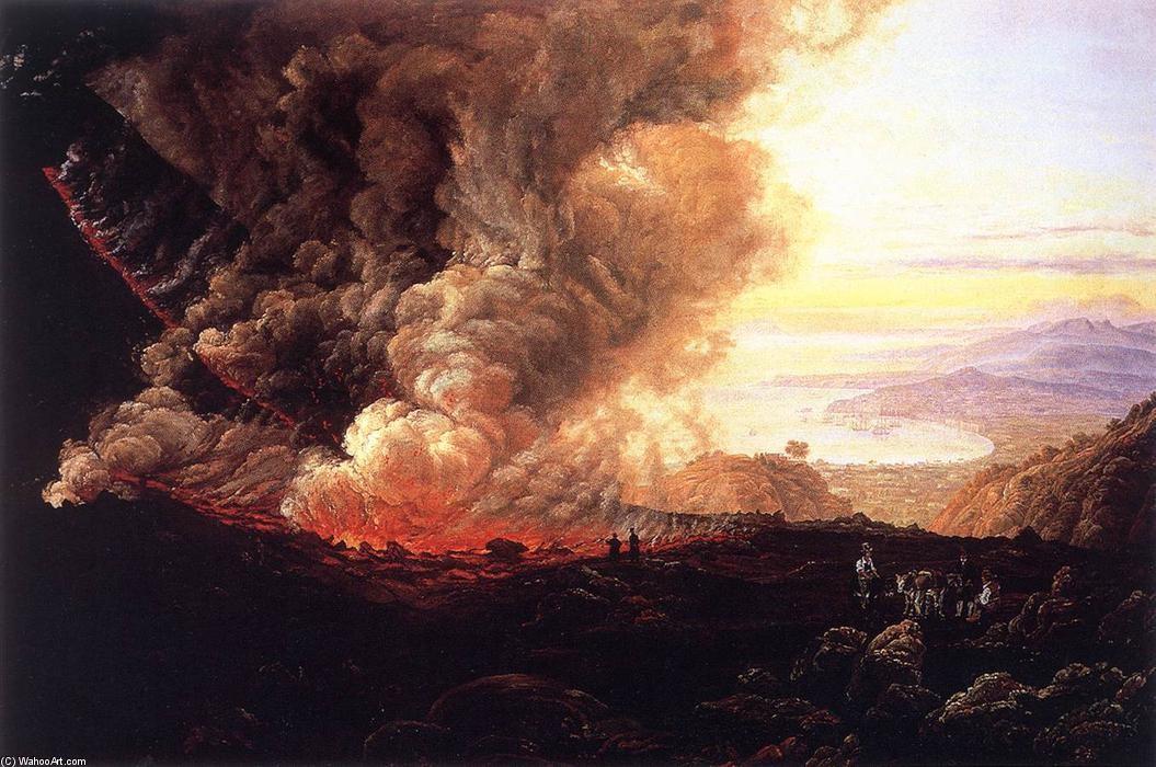 Pintura de Johan Christian Dahl retrata erupção do vulcão do Vesúvio (Foto: Domínio Público)