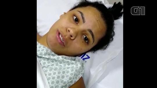 Mulher que caiu do 3º andar relata fuga de hospital em chamas