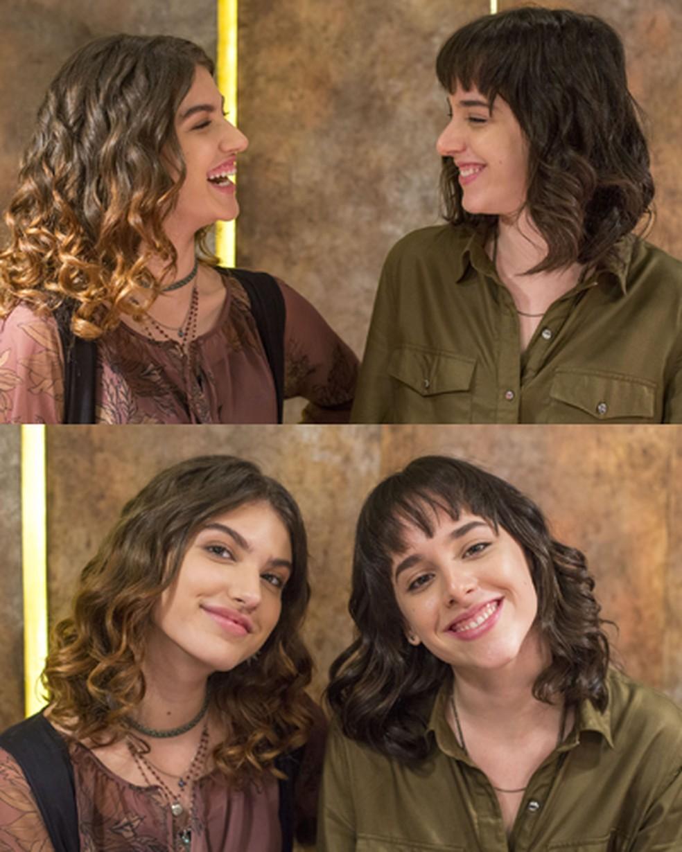 Samantha (Giovanna Grigio) e Lica (Manoela Aliperti) são o casal #Limantha — Foto: Globo / Marília Cabral
