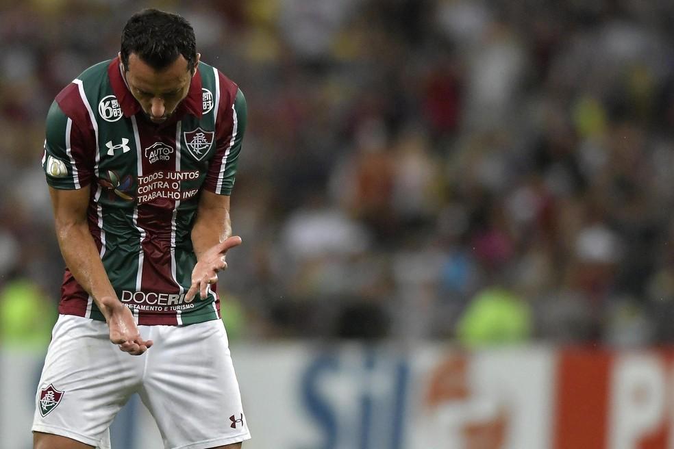 Nenê, em Fluminense x Chapecoense — Foto: Dhavid Normando/Futura Press