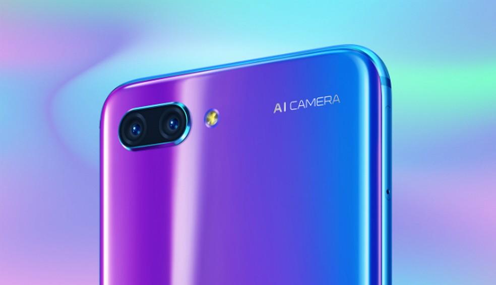 Câmera dupla do Honor 10 usa inteligência artificial (Foto: Reprodução/Huawei)