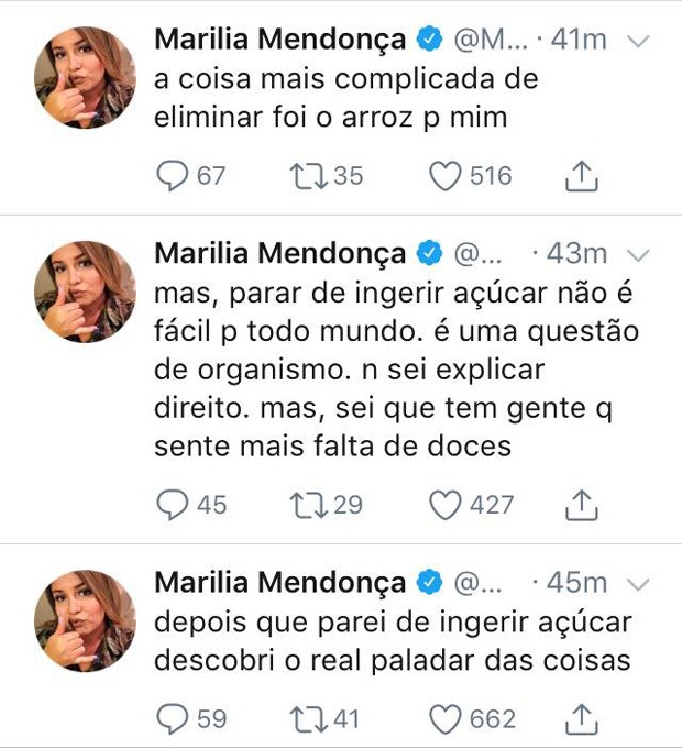 Post de Marília Mendonça no Twitter (Foto: Reprodução/Twitter)