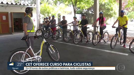 CET oferece curso de segurança para ciclistas de graça