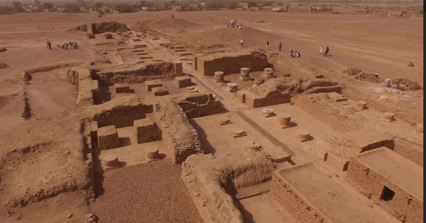 Sítio arqueológico do Templo de Amón (Foto: Divulgação/ Berber-Abidiya Archaeological Project)