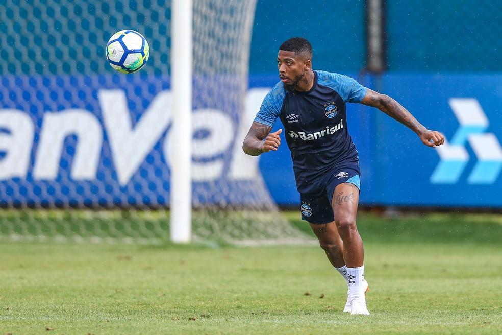 Contratado em junho, Marinho tem 16 partidas pelo Grêmio — Foto: Lucas Uebel/Grêmio