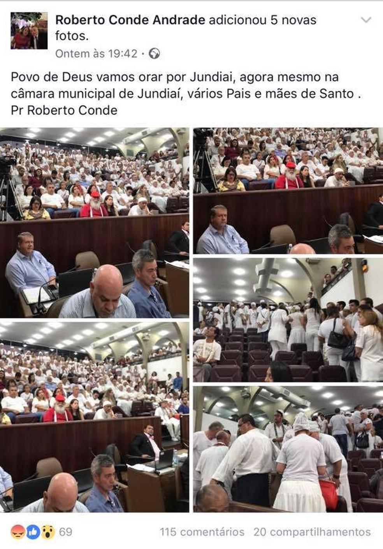 Vereador de Jundiaí é acusado de intolerante religioso em postagem no Facebook (Foto: Facebook/Reprodução)