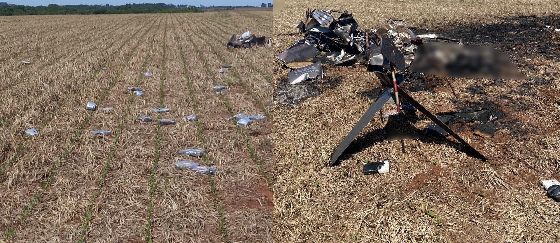 Em 5 minutos, helicóptero com 246 kg de cocaína saiu do Paraguai, pegou nevoeiro e caiu no Brasil, diz polícia