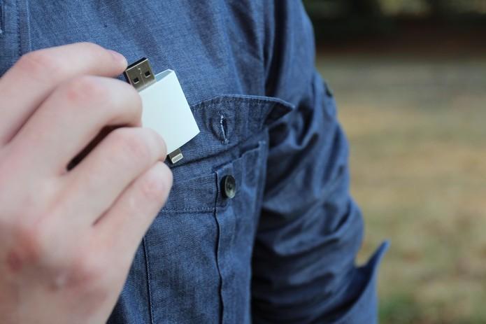 iPocket Drive pode expandir em até 256 GB a memória (Foto: Divulgação/The Power Company)