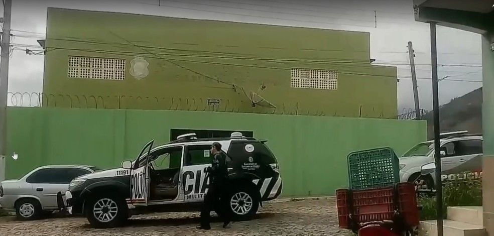Cadeia Pública de Itapajé, onde dez presos foram mortos no dia 29 de janeiro de 2018. — Foto: Reprodução/Rede Globo