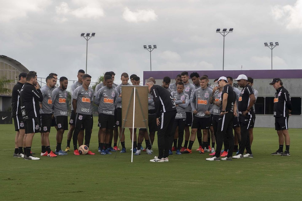 Elenco do Corinthians tem 27 atletas e 21 casos positivos para Covid — Foto: Daniel Augusto Jr/Ag. Corinthians
