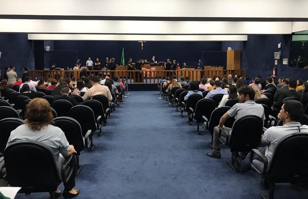 Crime da 113 Sul: julgamento de Adriana Villela começou nesta segunda-feira (23) — Foto: Afonso Ferreira/G1