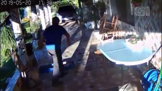 Câmera registra momento do tremor de terra em Cristais Paulista, SP; vídeo