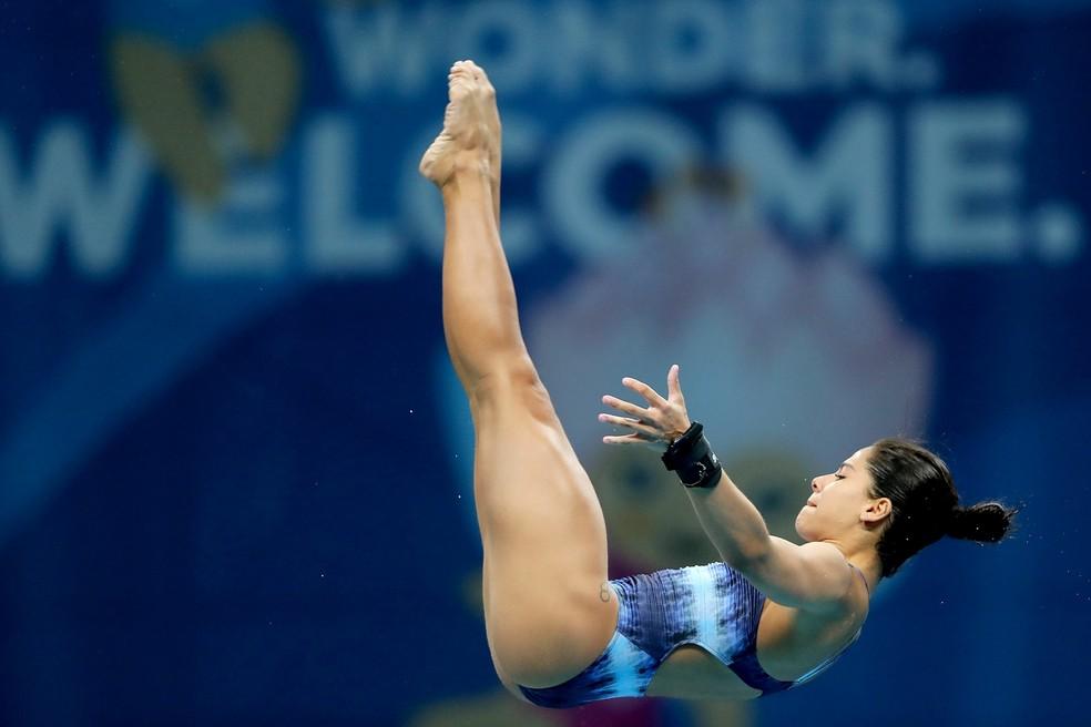 Ingrid Oliveira no Mundial de saltos ornamentais — Foto: Satiro Sodré/SSPress/CBDA