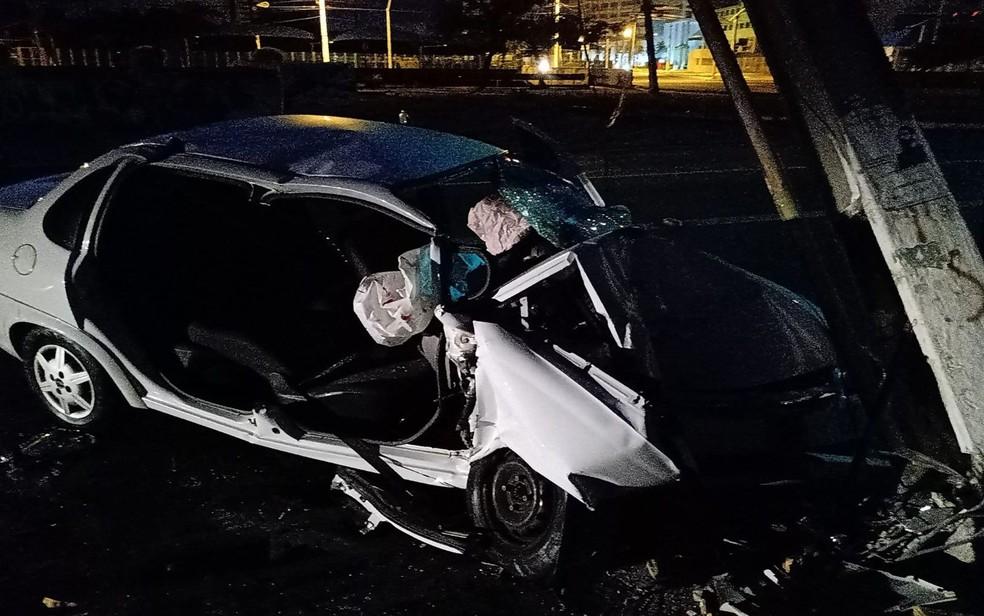 Acidente na Avenida Ministro Geraldo Barreto Sobral, em Aracaju — Foto: SMTT/Divulgação