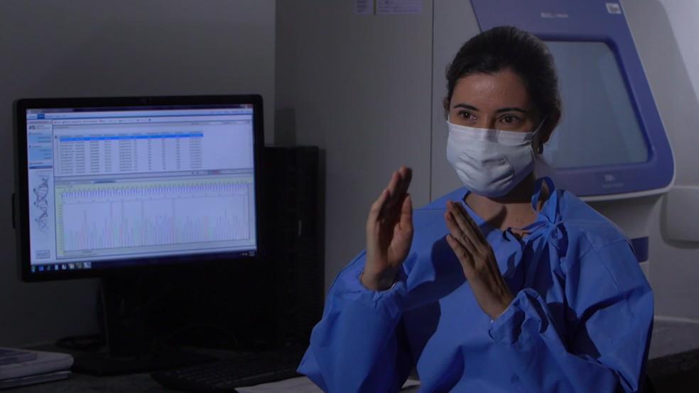 Doutora em biociências e biotecnologia em saúde Viviane Carvalho participou da pesquisa — Foto: Reprodução/TV Globo