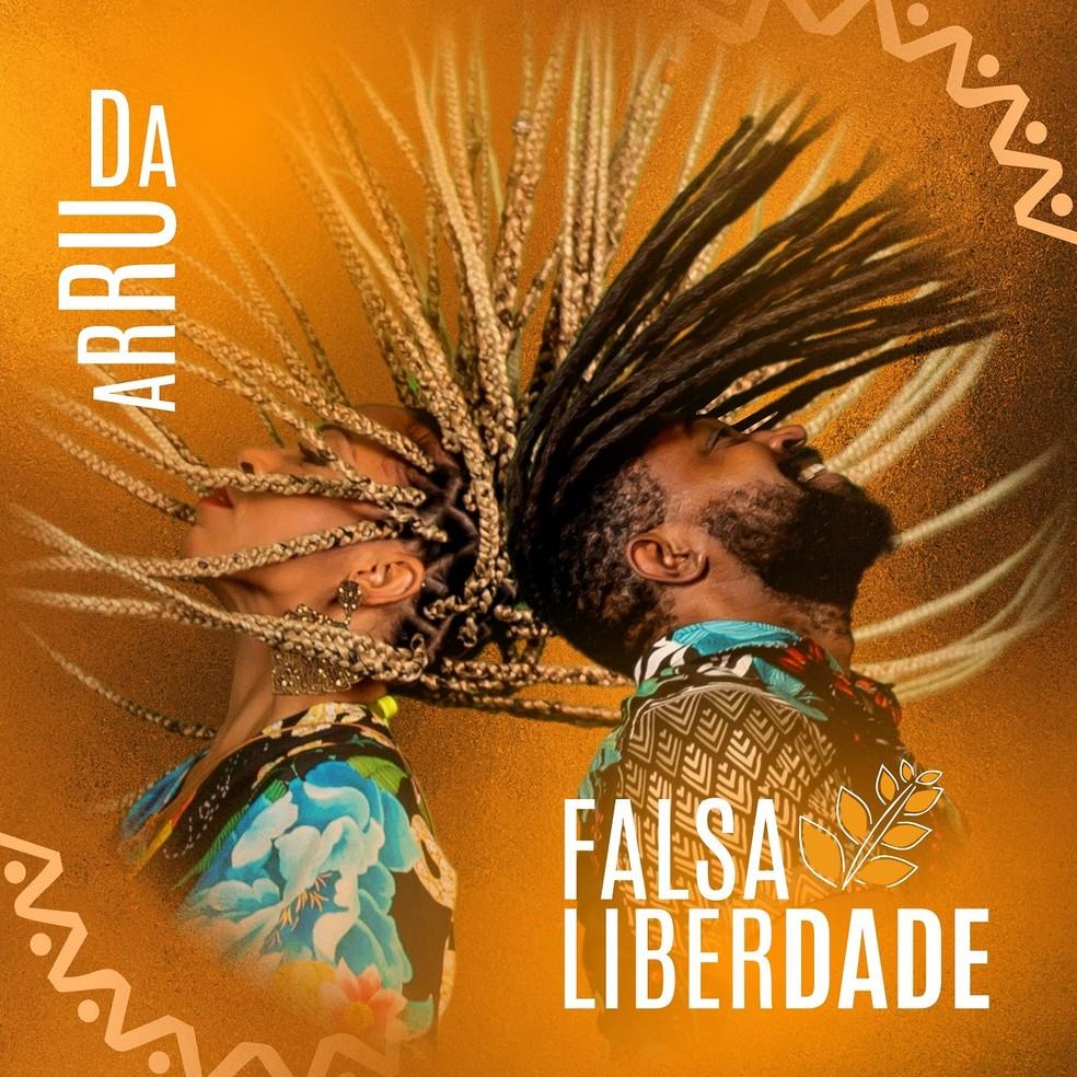 Capa do single 'Falsa liberdade', do grupo Arruda — Foto: Divulgação