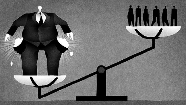 Desigualdade, pobres e ricos (Foto: Arquivo Google)