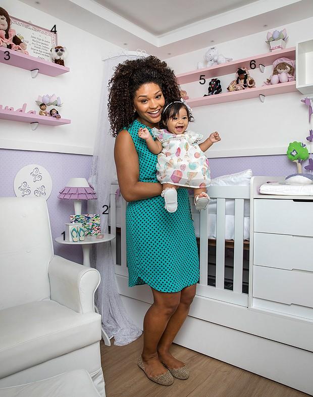 Juliana Alves mostra o quarto de Yolanda, sua bebê (Foto: Ivo Gonzalez)