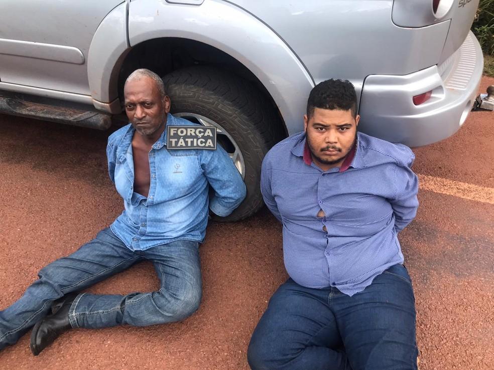 Outros dois homens foram presos suspeitos de morte de advogado em Juara — Foto: Polícia Militar de Mato Grosso/Assessoria