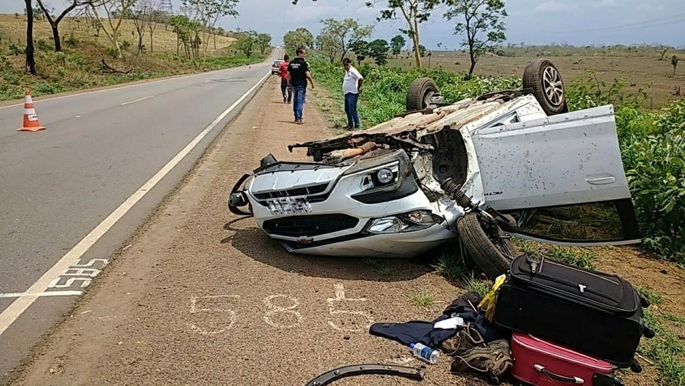 Acidente aconteceu na BR-153, na região central do estado — Foto: PRF/Divulgação